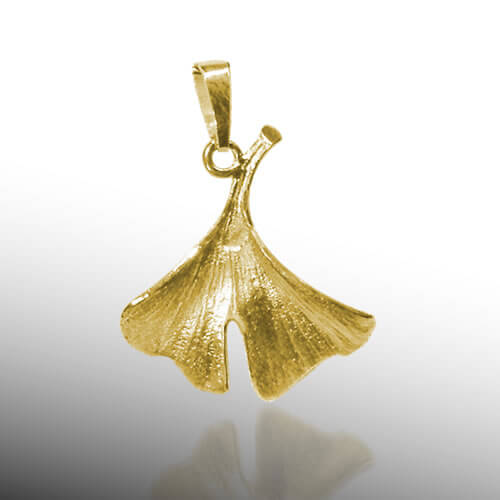 Anhänger Ginkgo Gold klein